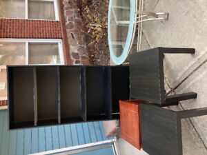 Free bookshelf, coffee table and end tables on Ochterloney st.
