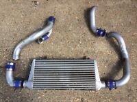 Nissan 200sx s14 s14a s15 Silvia aluminium front mount intercooler piping BOV dump valve drift
