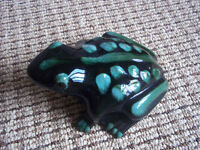 blue mountain pottery--large frog