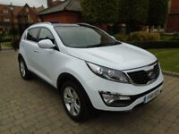 Kia Sportage 1.6 GDI 2 2WD with FULL PANORAMIC SUNROOF (white) 2011