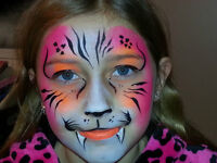 Professional face painter available for hire