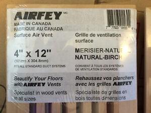 Natural Maple 4 X 12 flush fitting air vent - NEW Gatineau Ottawa / Gatineau Area image 2