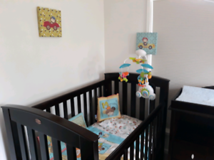 Boori Country cot and change table
