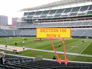 2 Cincinnati Bengals 2014 season tickets  section 106 row 4