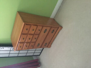 Twin bed and dresser