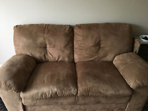 Suede love seat