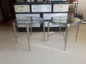Metal & Glass Side tables $150 ea or $325 both OBO