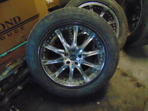SET OF 4 19 IN WHEELS AND TIRES