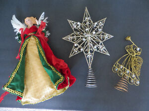 ASSORTED TREE TOPPERS (3)