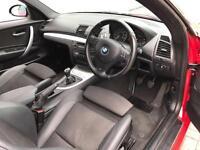 2007 07 BMW 120i M Sport Red 3 door hatchback + Black Part Leather +