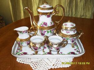 ens de thé en porcelaine tea set Paris Milano Vivendi collection