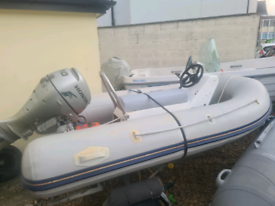 3m rib boat with honda 4stroke outboard electric start and trailer
