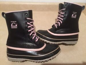 Girls Sorel Premium Waterproof Winter Boots Size 6