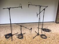 Three AKG S300b with capsules and D112 kick drum mic. With stands and cables.
