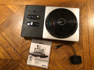 DJ HERO 2 (PS3) with turntable & usb