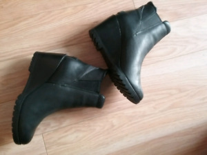SOREL 'After Hours' Leather Chelsea Wedge Boot