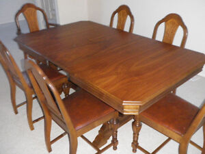 Table, 6 Chairs; Buffet; China Cabinet  (Fine Antique)