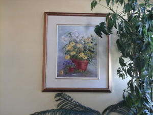 """Painting by Marjory Caswell  """"Easter Floral"""""""