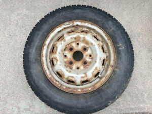 Studded winter tires on rims P155/80R13