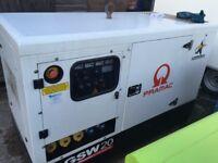 Pramac GSW20 silent generator 20 kva 1 ph ( no vat )