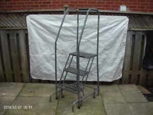Portable steel safety step ladder **$80**
