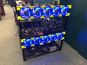 GPU Cryptocurrency Mining Rig, 150MH/S, 6*RX570 miner