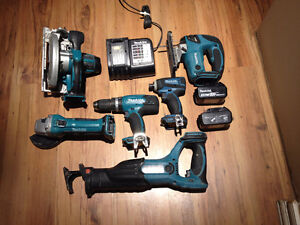 6 Pices 18V Makita set $400
