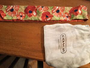 New- Coach poppy purse / hair scarf!
