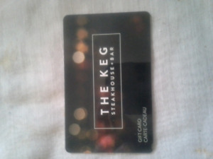 The Keg $50 gift card first $40 takes it