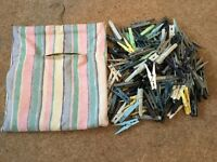Washing Pegs and Bag