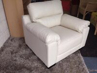 Leather Armchair Ivory Leather Chair Local Delivery Available