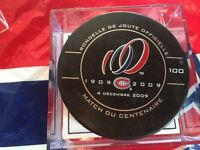 Montreal Canadiens Rondelle game used match centennaire (rabais)