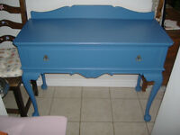 Vintage painted wooden buffet/hall table