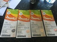 4 X Olympic volleyball tickets 9th august