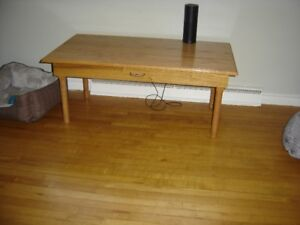 Hand Crafted Oak Coffee Table
