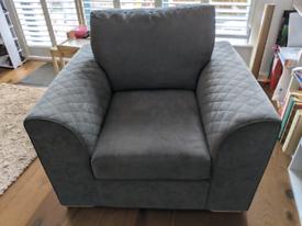 DFS armchair in graphite.