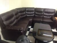 Leather corner suite new was £1000 now £550 must go ASAP as need space hence price