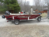 16.5' Aluminum Boat with Trailer & Accessories