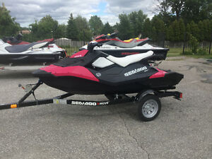 2014 SEADOO SPARK 3UP 90HP SEA DOO W/TRAILER LOW HRS LIKE NEW