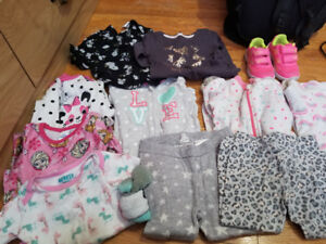 Baby girl clothing sizes 12-24 months and size 6 shoes and flip