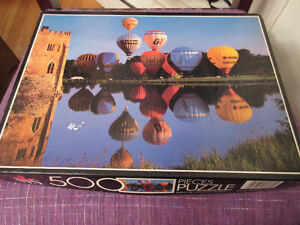 Very pretty 500 piece puzzle - Ballooning Leeds Castle England