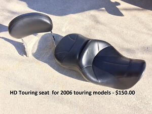 Harley Touring seat and backrest