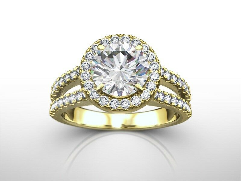 2.00 CT ROUND D/SI1 ENHANCED DIAMOND  SOLITAIRE ENGAGEMENT RING 14K YELLOW GOLD
