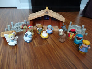 Crèche de Noël Little People