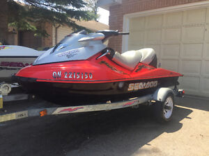 2004 Seadoo GTX supercharged 3 seater with trailer