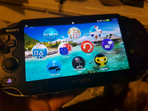 PS vita starter set with charger, memory card and case