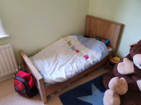 Children's Charnwood Bordeaux cot bed with mattress