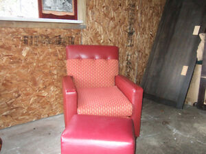 Chair with ottoman $70