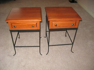 Pretty pair of end tables, real wood