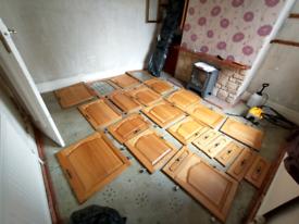 Variety of solid Oak kitchen cabinet doors